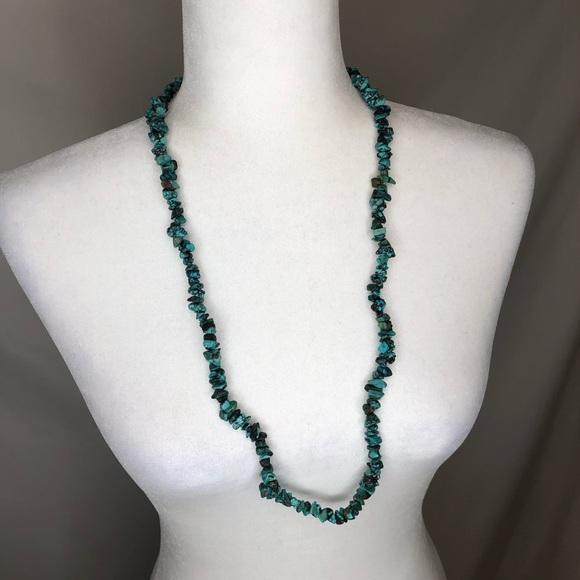 Vintage Jewelry - 🍭 Vintage teal rock statement necklace